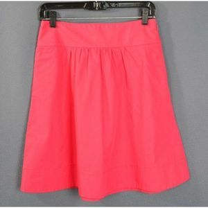 J Crew A-line Skirt SZ 0 Pink Lined Knee Length